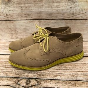 Cole Haan LunarGrand Suede Wingtip Shoes